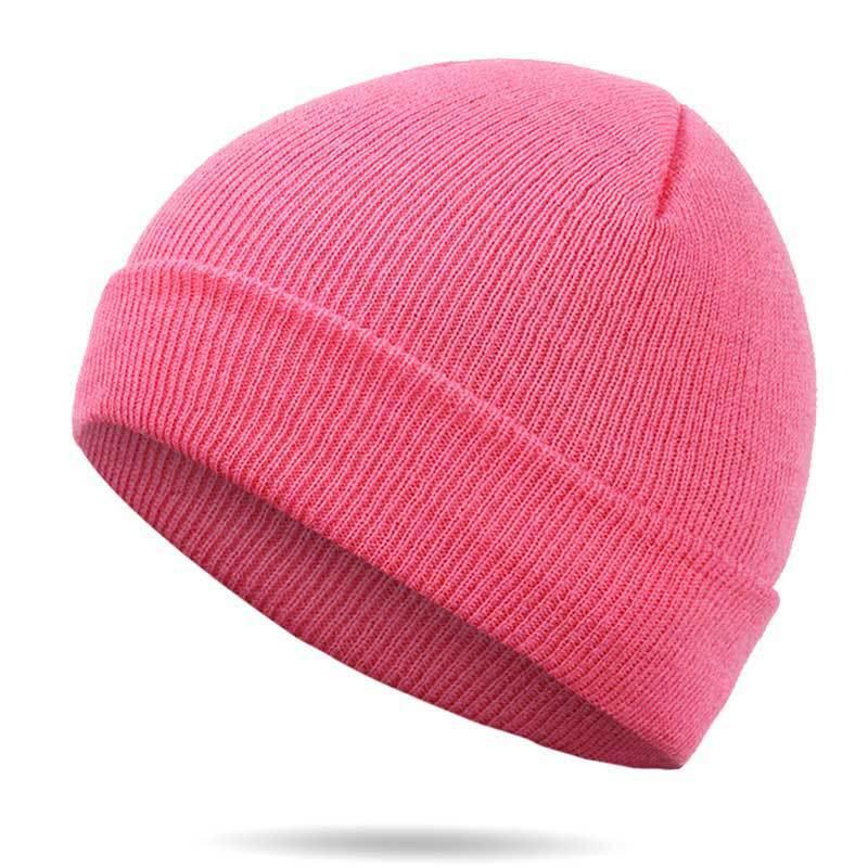 Hat Hip-Hop 20colors Red Blue Black Orange Purple Stretch Knit Beanie Autumn Winter Hats For Man Woman Skullies Ski Cap Bonnet