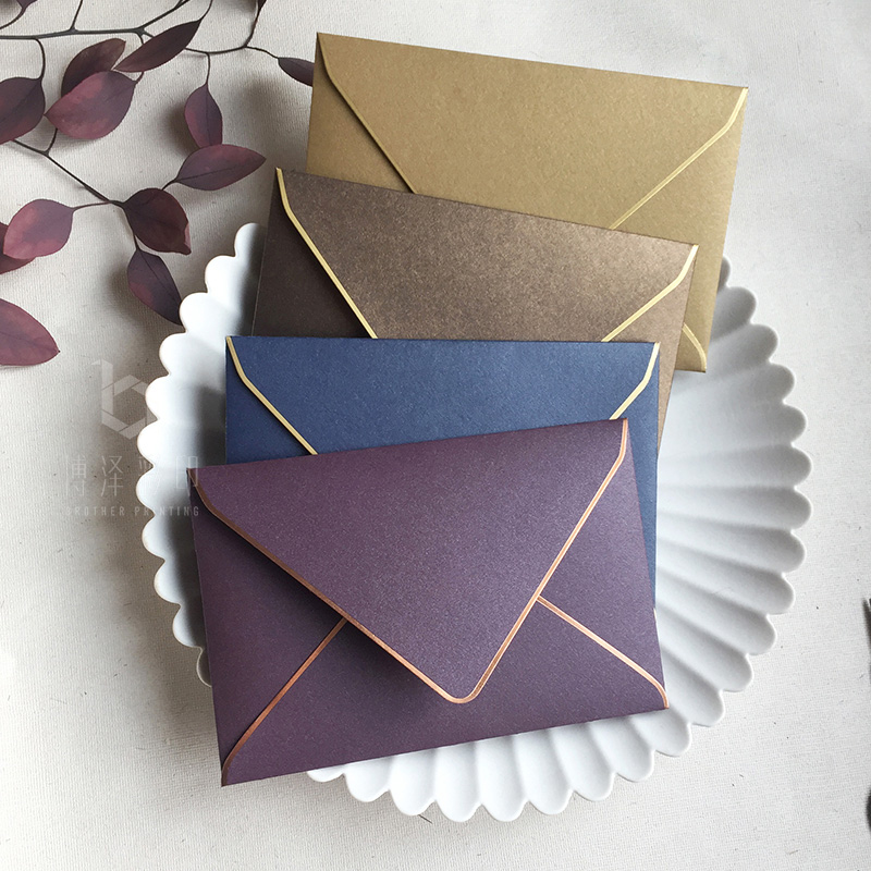 5pcs/pack Hot Stamping Envelopes 110mmX165mm Western Envelopes Perfect For Wedding, Party, Invitation