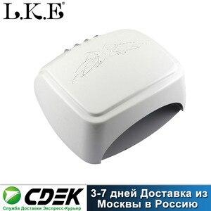Image 1 - LKE 60W suszarka do paznokci CCFL LED UV lampa do paznokci szybkoschnący żel polski Auto lampa indukcyjna maszyna do Manicure Salon narzędzia do paznokci