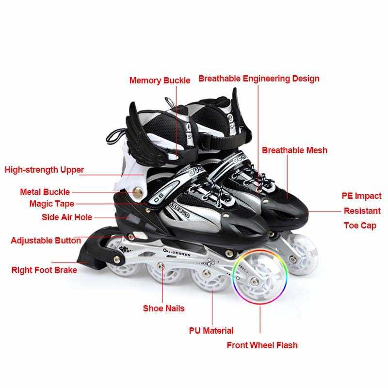 Adjustable Size Inline Skates Shoes For