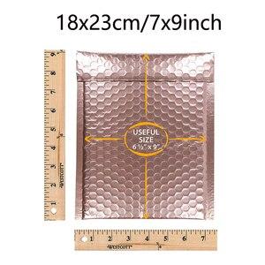 Image 3 - Venda quente de 25 polegadas de ouro rosa colorido, bolha vermelha 7x9 polegadas pacote de envelopes acolchoados cd à prova d água bolsa para presentes 18x23cm