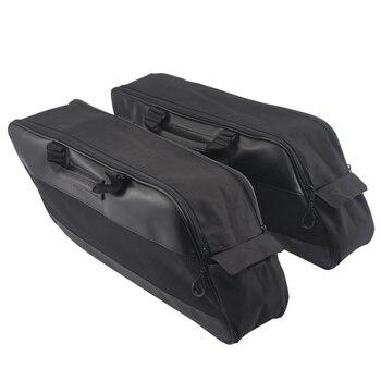 Motorcycle Hard Saddlebag Liners Laggage Bag Travel Luggage Paks for Harley Touring Street Electra Glide Road King CVO Ultra