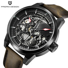 Pagani Дизайн Пиратский Череп Стиль Мужские часы кожа светящиеся