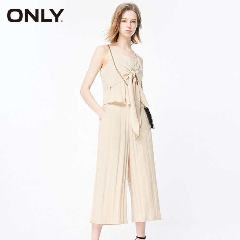 ONLY Women  Loose Fit Casual Straps Pants |119144515