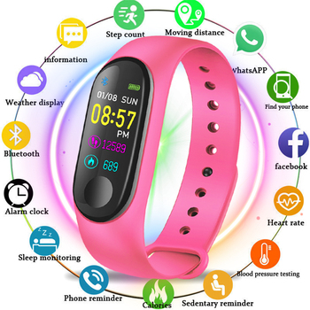 xiaomi mi band 3 miband 3 smart wristband with 0 78 oled touch screen waterproof heart rate fitness tracker smart bracelet M3 Smart Watch Bracelet Band Fitness tracker Wristband Heart Rate Activity Screen Smart Electronics Bracelet watch For Women men