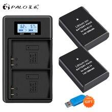1200mAh 2x EN EL14A EN EL14 ENEL14 Batterie + LCD USB Dual Ladegerät für Nikon D3100 D3200 D3300 D3400 D3500 D5600 d5100 D5200 P7000