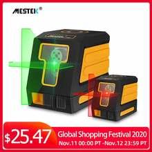 Nível laser, autonivelamento horizontal e vertical cruz linha vermelha/verde feixe portátil mini medidor de nível laser 360 duas linhas