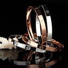 Trendy Beautiful Lovers Bracelets Woman Stainless Steel Bangles and Cubic Zirconia Golden Jewelry Gifts