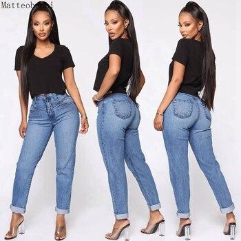 High Waist Distressed Jeans Women 2020 Vintage Straight leg Harem Pants Boyfriend Denim Pants Casual Trousers Autumn Mom Jeans basic denim jeans women high waist jeans vintage mom style straight jeans casual ankle length cowboy pants
