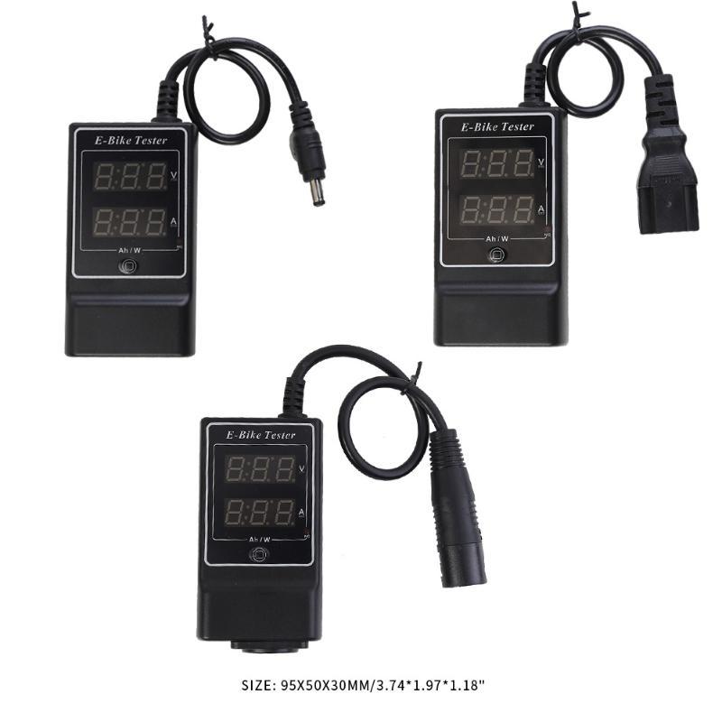 ABS Digital Display E-Bike Charger Tester Current Voltage Detector Gauge Black