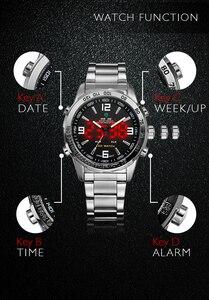 Image 5 - WEIDE 2019 رجال الأعمال ساعات غير رسمية فاخرة العلامة التجارية الكوارتز LED حركة رقمية ساعة معصم ساعة العسكرية Relogio Masculino