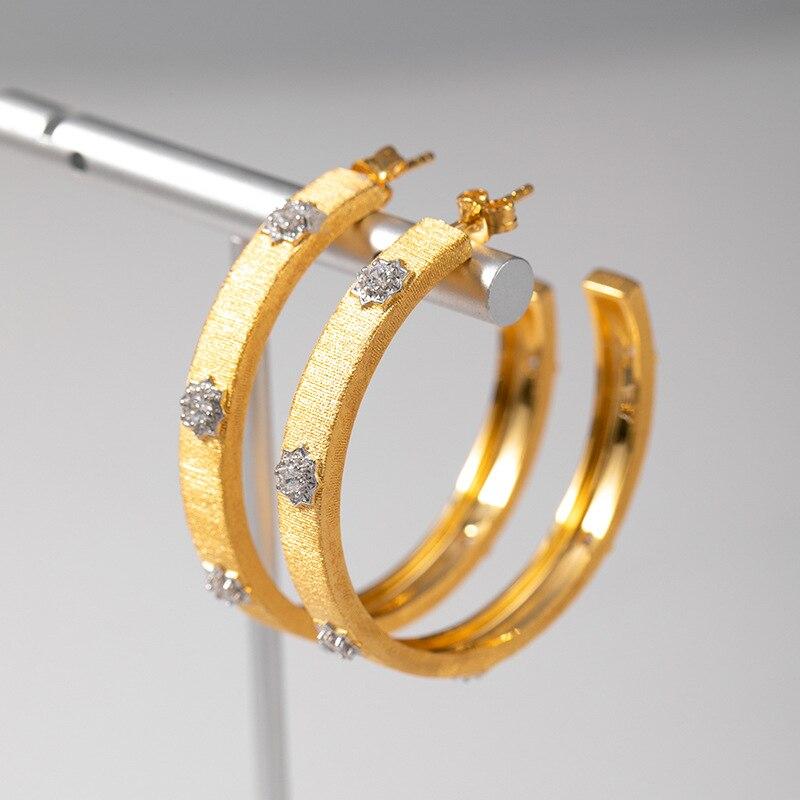 CMajor solide argent Sterling vintage élégant boucles d'oreilles cadeau pour les femmes