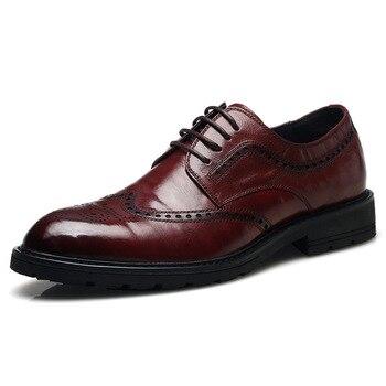 Bullock Autumn Leather England Casual Business Dress Mens Leather Shoes Dress Shoes Men Zapatos De Hombre