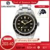 San Martin Diver Watch 6200 Retro Water Ghost Luxury Sapphire NH35 Men Automatic Mechanical Watches 20Bar Waterproof Luminous 1