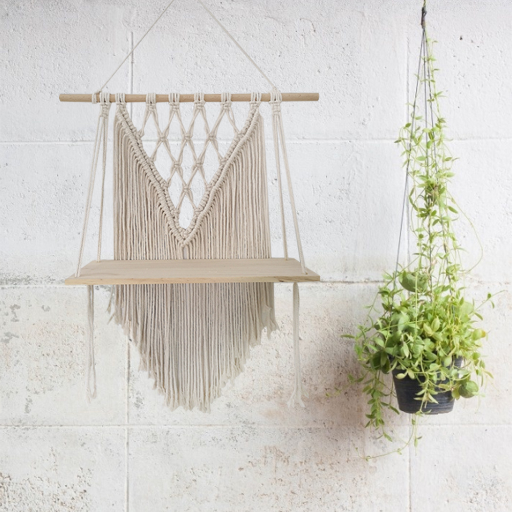 Wall Hanging Shelf Decor Macrame Wall Hanging Shelf Handmade Home Wall Decor