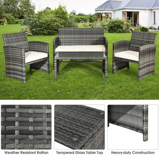 4 Piece Patio Furniture Set 5