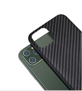Image 2 - Kevlarจริงคาร์บอนไฟเบอร์โทรศัพท์กรณีแฟชั่นสำหรับIphone 11 Pro Max Ultra Thin Anti Fall HardธุรกิจCase 11 X Shell