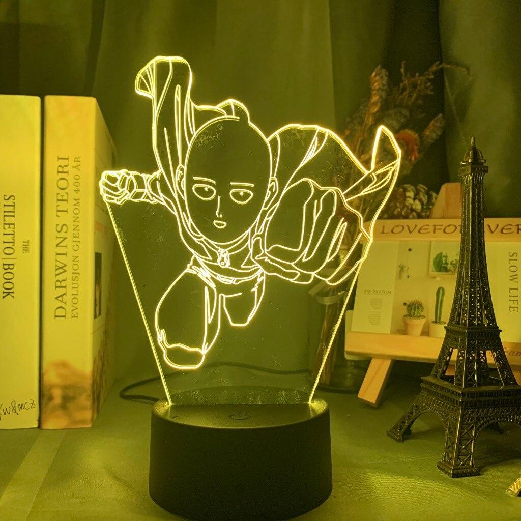 H5608d7707cdd4c37b0cf505b5b879c3dJ Luminária One Punch Man saitama figura led night light lâmpada para decoração de casa nightlight fresco mangá loja decoração idéias mesa luz 3d