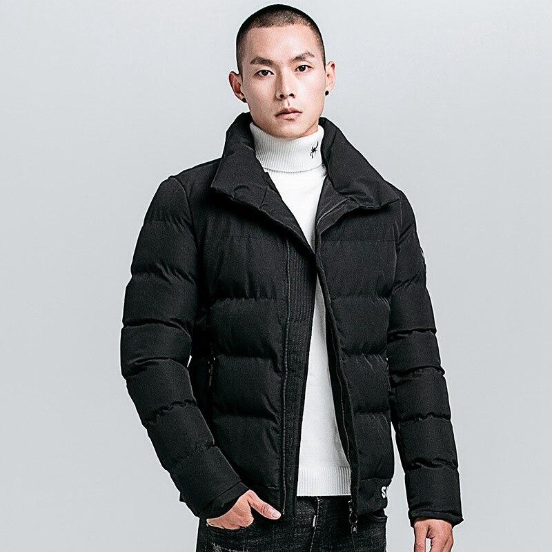 2019 Autumn Winter European Jacket Men Cotton Softshell Windbreaker Fashion Warm Coats Big Size Zipper Male Jackets Waterproof