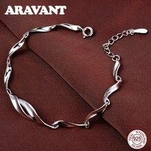 Silver 925 Jewelry Fashion Twist Chain Bracelets For Women High Quality Sterling Silver Bracelets Fine Jewelry