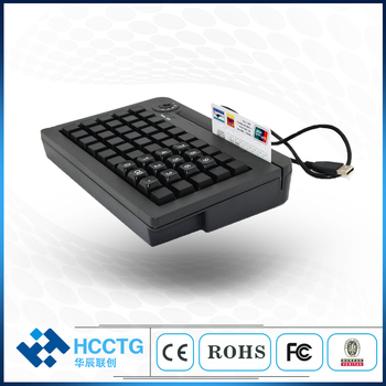 High Quality MembraneKB50 POS 50 Keys Mini POS Programmable Keyboard with Card Reader SDK Free KB50M