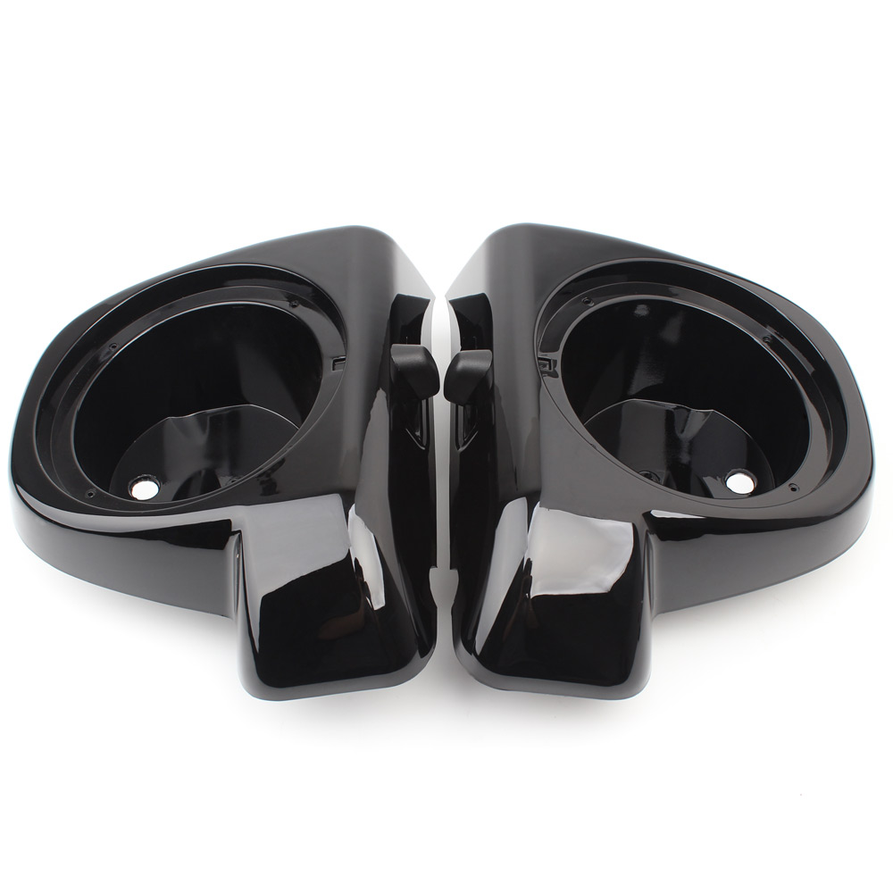 Gloss Black Motorcycle Speaker Boxes Pod Lower Vented Fairing For Harley Touring Electra Glide Street Glide Road Glide 2014-2020