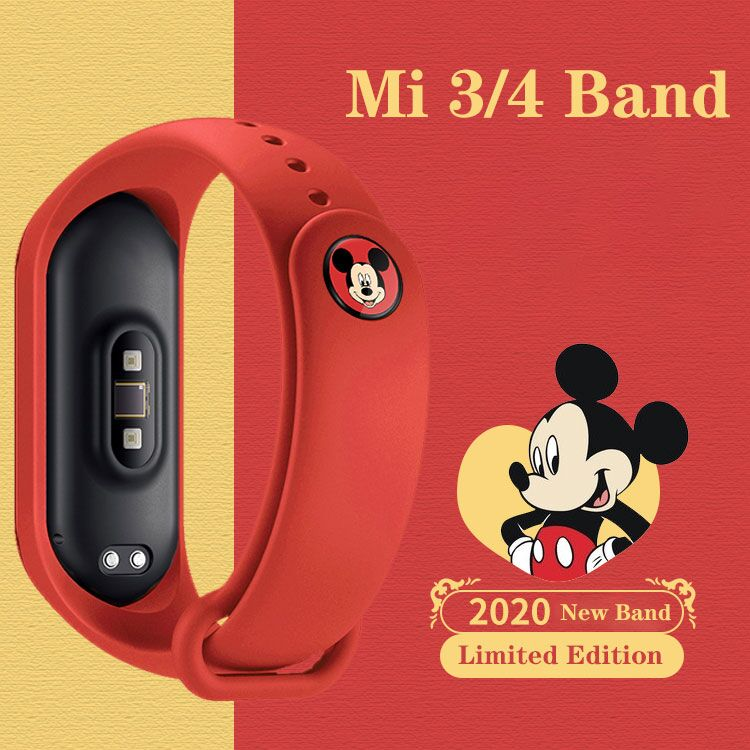For Mi Band 4 Strap Replacement Bracelet For Xiaomi Miband 3 4 Original Silicone Colorful Flowers Wrist Strap For Mi3 Belt