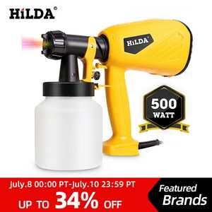 HILDA Spray-Gun Furniture Airbrush Paint-Sprayer HVLP Electric 800ml Wood Household