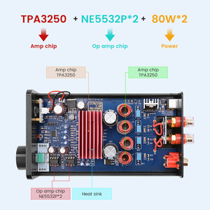 Image 5 - FX Audio FX502S PRO Audio Digital High Power Amplifier HIFI 2.0 Stereo Home Professional Amp TPA3250 NE5532 80W *2 Amplifiers