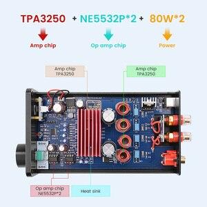 Image 5 - FX אודיו FX502S PRO אודיו דיגיטלי גבוהה כוח מגבר HIFI 2.0 סטריאו בית מקצועי Amp TPA3250 NE5532 80W * 2 מגברים