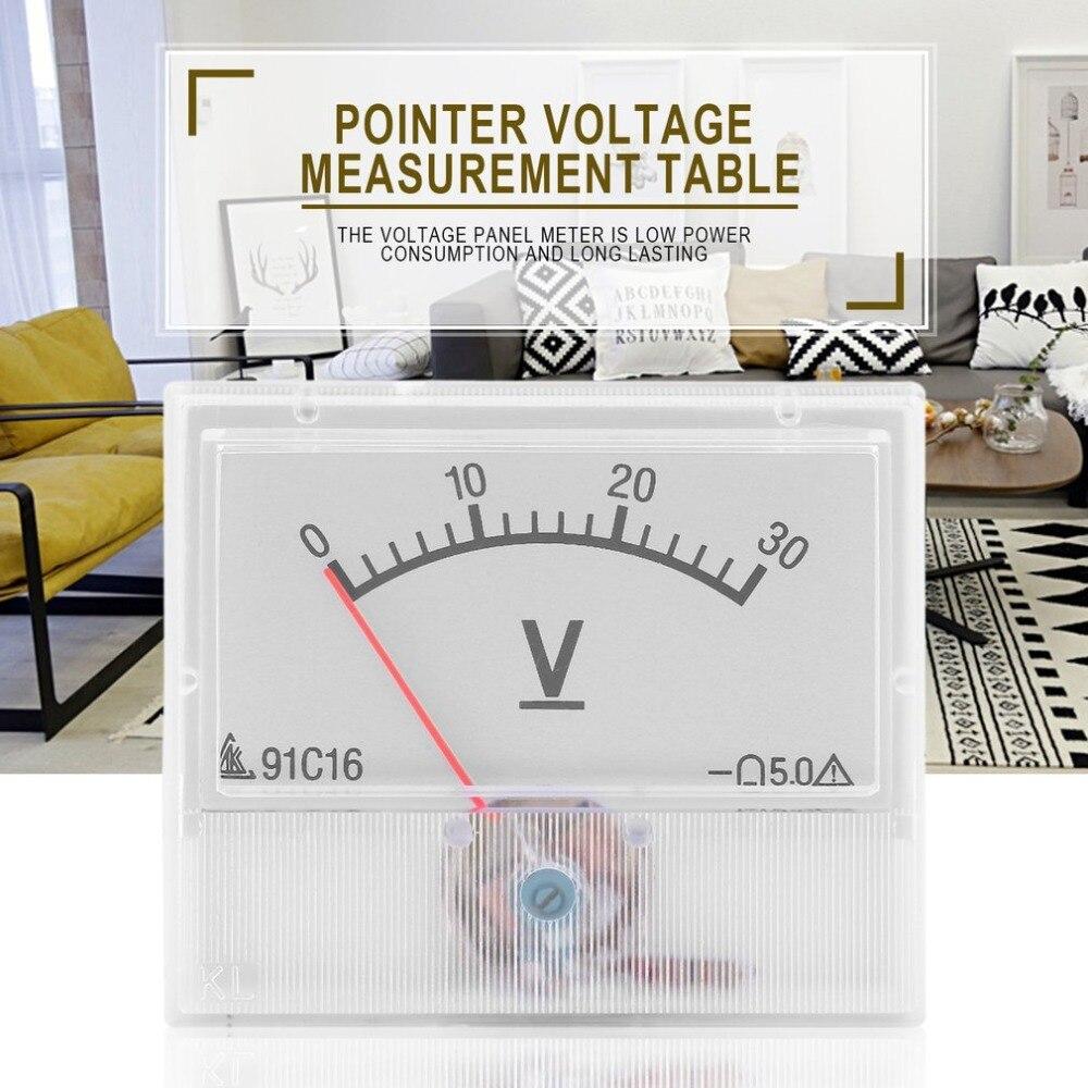 Profissional 0-30V DC Analógica Volt Voltage Meter Painel Voltímetro Medidor Com Classe de Precisão 2.5 Tester Ferramenta de Diagnóstico