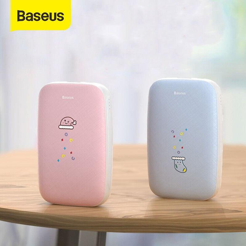 Baseus нагреватель для рук внешний аккумулятор 10000 мАч нагревательный коврик перезаряжаемый usb-нагреватель удобный карманный мини электричес...