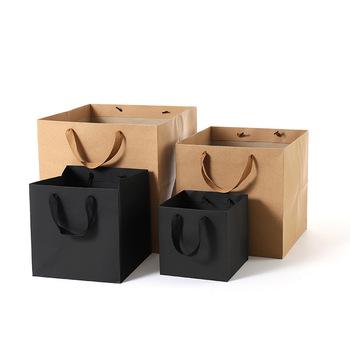 Ładne kwadratowe torby papierowe z uchwytem wielofunkcyjne torby na zakupy pakowanie prezentów pudełko walentynki Rose Boxes Party Decor tanie i dobre opinie merylover CN (pochodzenie) 1 pc Papier pakowy NONE Jednolity kolor Ślub i Zaręczyny Chrzest chrzciny St Świętego patryka