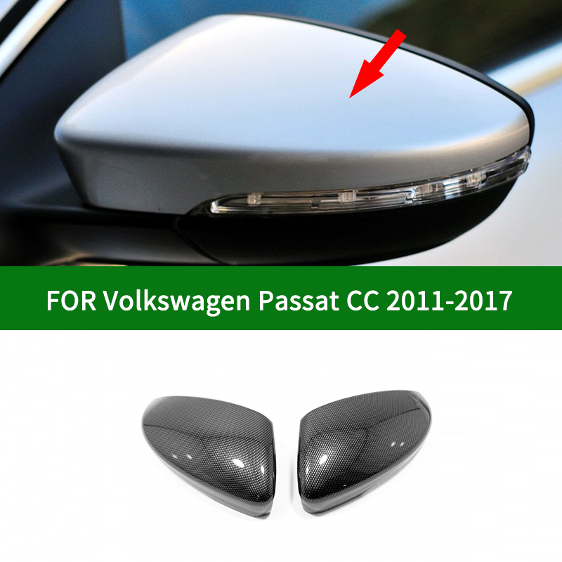 For Volkswagen VW Passat CC 2011-2017 Carbon Fiber Car Side Rearview Mirror Cover Trim,chrome Silver Turn Signal Mirror Cover
