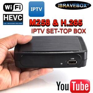 Image 1 - IBRAVEBOX M258 טלוויזיה מקלט לווין אינטרנט ממיר דיגיטלי IPTV מקלט מפענח מלא HD 1080P 4K טלוויזיה תיבת עם USB Wifi #50