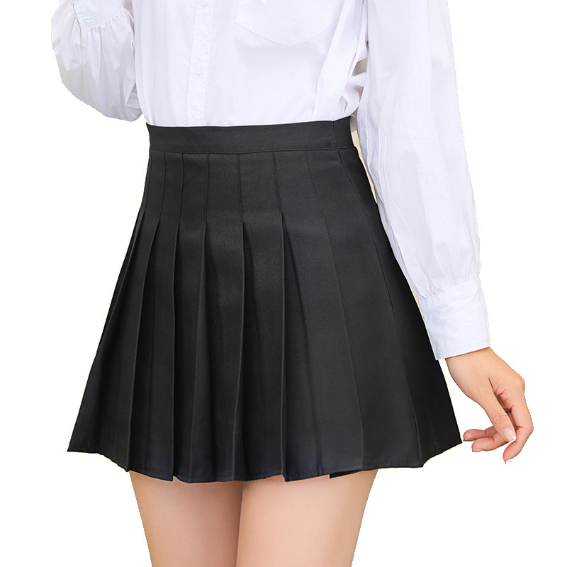 Plus Size Harajuku Short High Waist Skirt New Korean Plaid Skirt Women Zipper School Girl Pleated Plaid Skirt Sexy Mini Skirt
