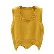 Женский свитер жилет liva girl однотонный топ модный вязаный