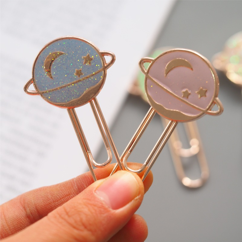 Star Planetary Metal Bookmark Paper Clip School Office Supply Escolar Papelaria Gift Stationery