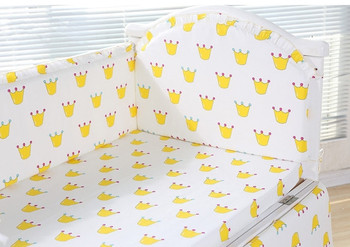 6pcs baby crib bedding set cotton curtain kit berço Cot Bumper Collision Protector baby bumper  (4bumper+sheet+pillow cover)