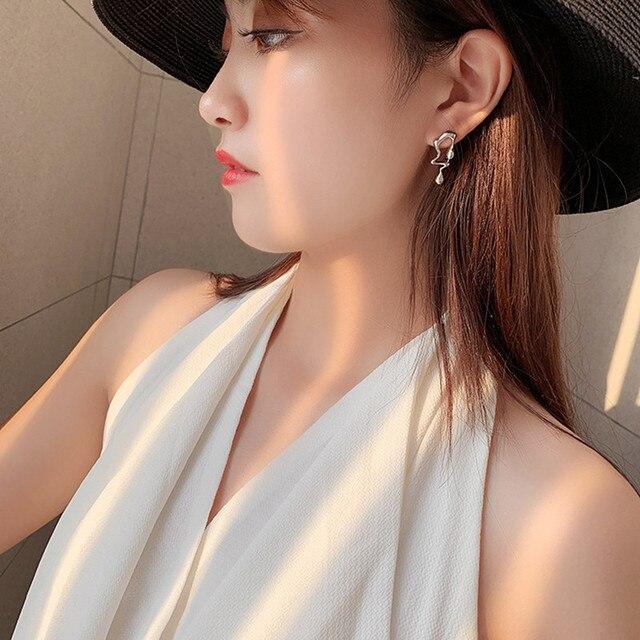 Asymmetric Earrings  Gold Silver Color  4