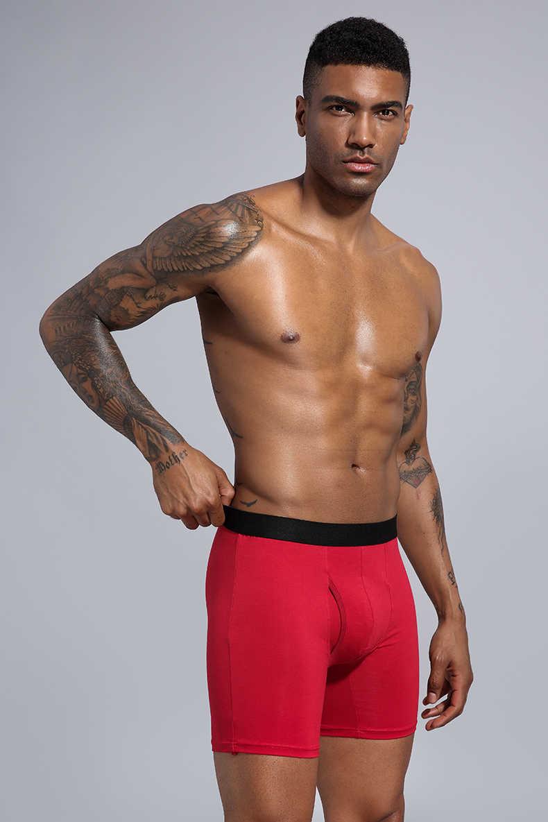 Ondergoed Mannen Boxers Lange Herenkleding Mannen Shorts Katoen Man Slipje Boxershorts boxer hombre ropa interieur hombre