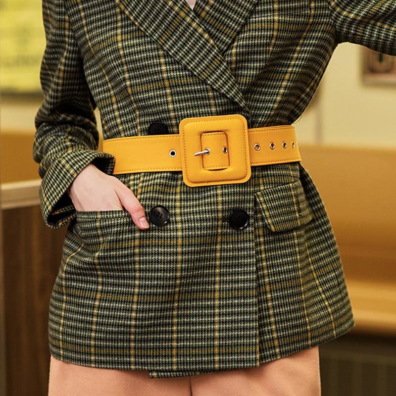 AEL Fashion Belts For Women Vintage Fabric Waist Buckle With Silvery GROMMET Wide Strap Body Women Cummerbund Belt Female Wide