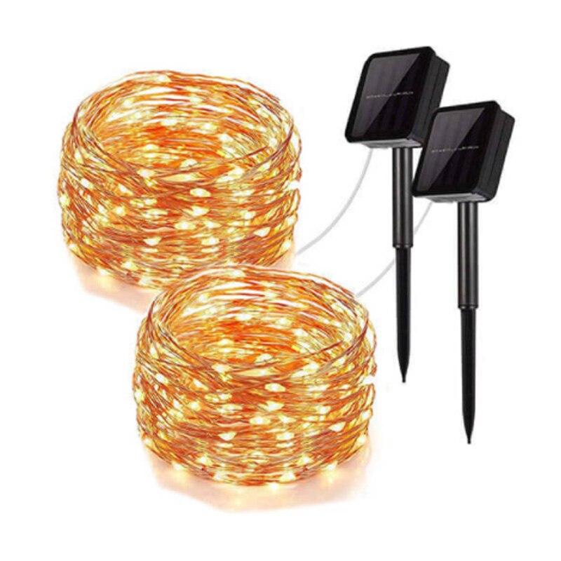 300/200/100 LED Solar Light Waterproof Fairy Garland Lights String Outdoor Holiday Christmas Party Wedding Solar Lamp Decor