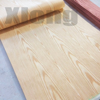 2Pieces L:2.5Meters/pcs Wide:55cm Thickness:0.2mm Technology Ash Wood Veneer Furniture Edge Banding Strip