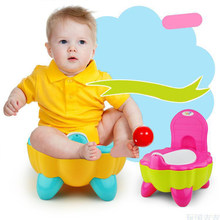 Hot Cute Baby Chair Cartoon Folding Potty Toddler Portable Training Plastic Toilet Seat Pumpkin(China)