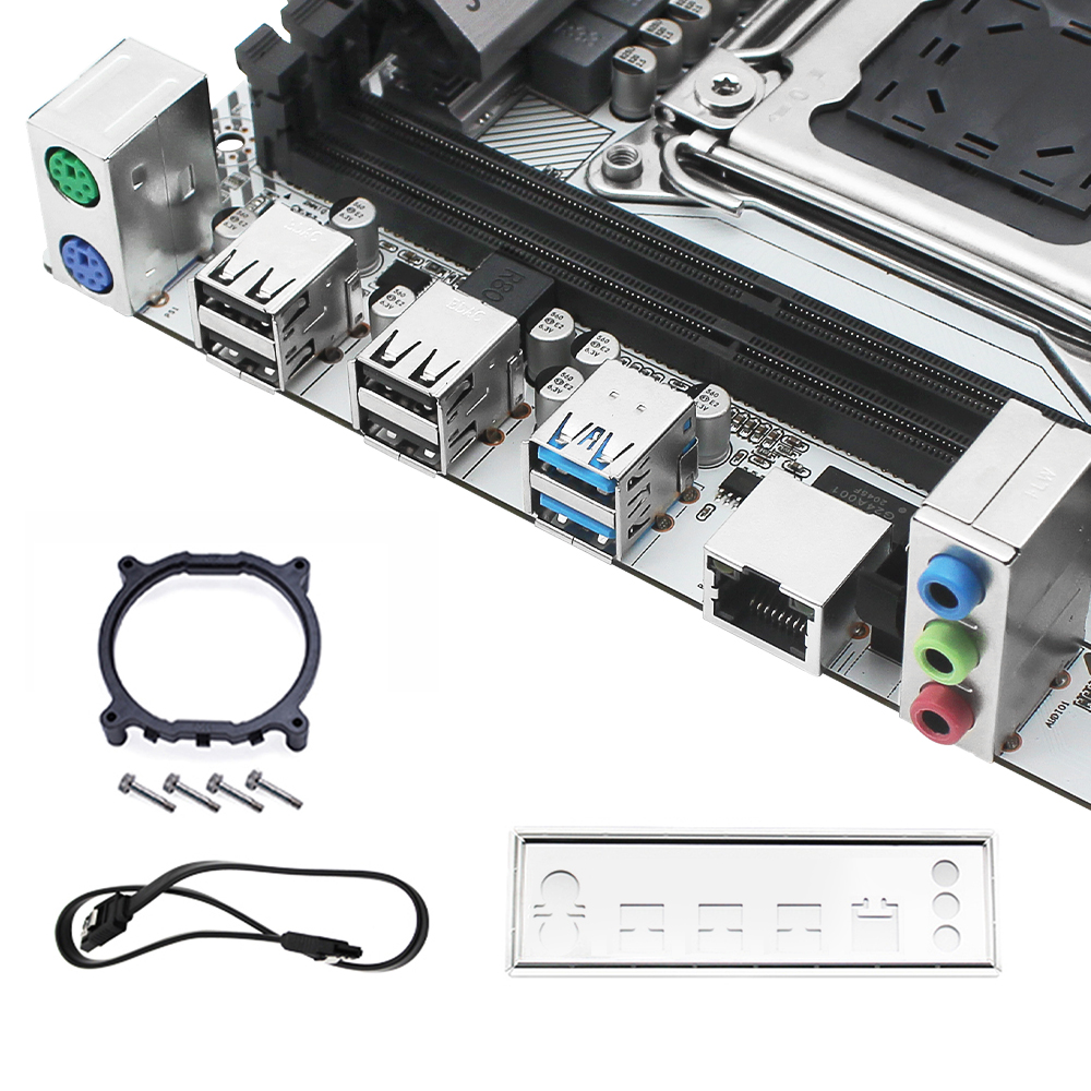 JGINYUE X99 motherboard LGA 2011-3 support DDR4 RAM Xeon E5 V3&V4 processor SATA pci-e M.2 NVME slot X99M PLUS D4 motherboards 6