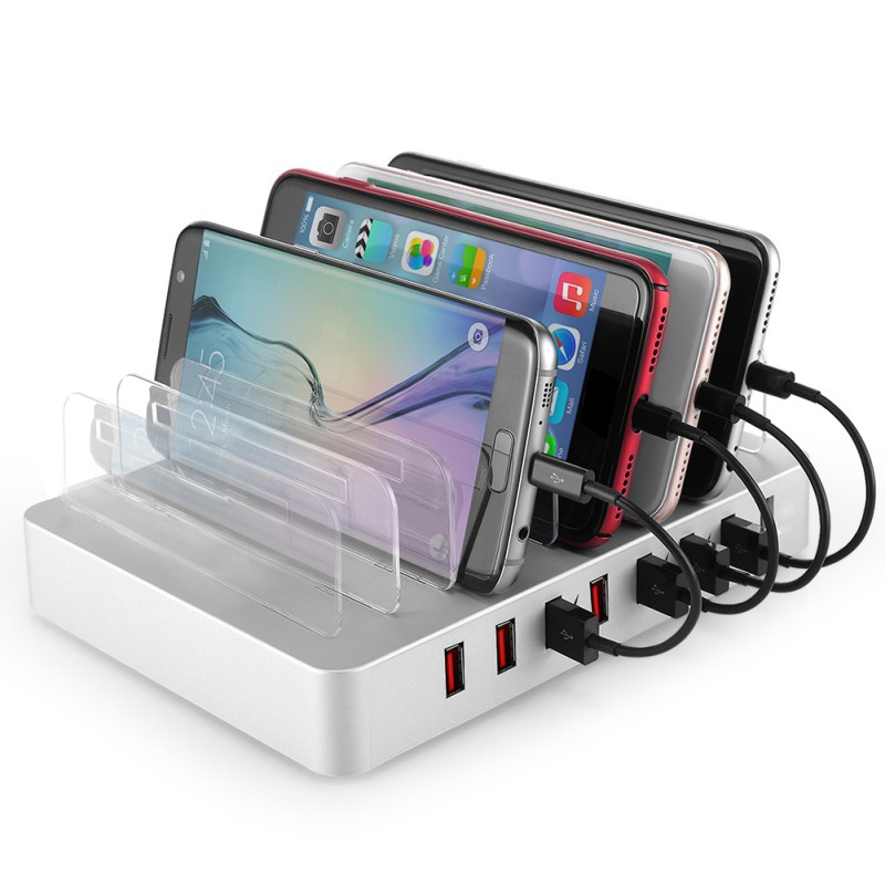 Pratique 8 ports USB Station de recharge plusieurs téléphone tablette chargeur de sécurité Dock organiseur de bureau pour samsung huawei iphone