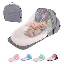 Portable Crib Travel Baby Nest Multifunctional Folding Kids Crib Mosquito Proof Isolation Protection Baby Bed Newborn Bassinet