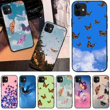 MayDaysmt Beautiful Butterfly Customer High Quality Phone Case For iphone6 6s plus 7 8 7 8 plus X XR XS MAX 11 Pro Max Cover lovebay geometri customer high quality phone case for iphone 6 6s plus 7 8 plus x xs xr xs max 11 11 pro 11 pro max cover