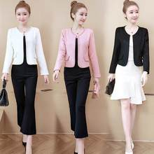 womens jackets and coats 2019 Fashion pink white black women jacket long sleeve coat women 3XL 4XL plus size jacket women LJ772(China)